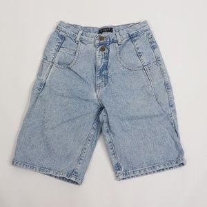 Vintage Guess USA Spell Out Distressed Jean Shorts